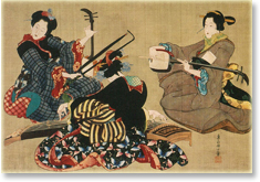 北斎の娘「三曲合奏図」.jpg